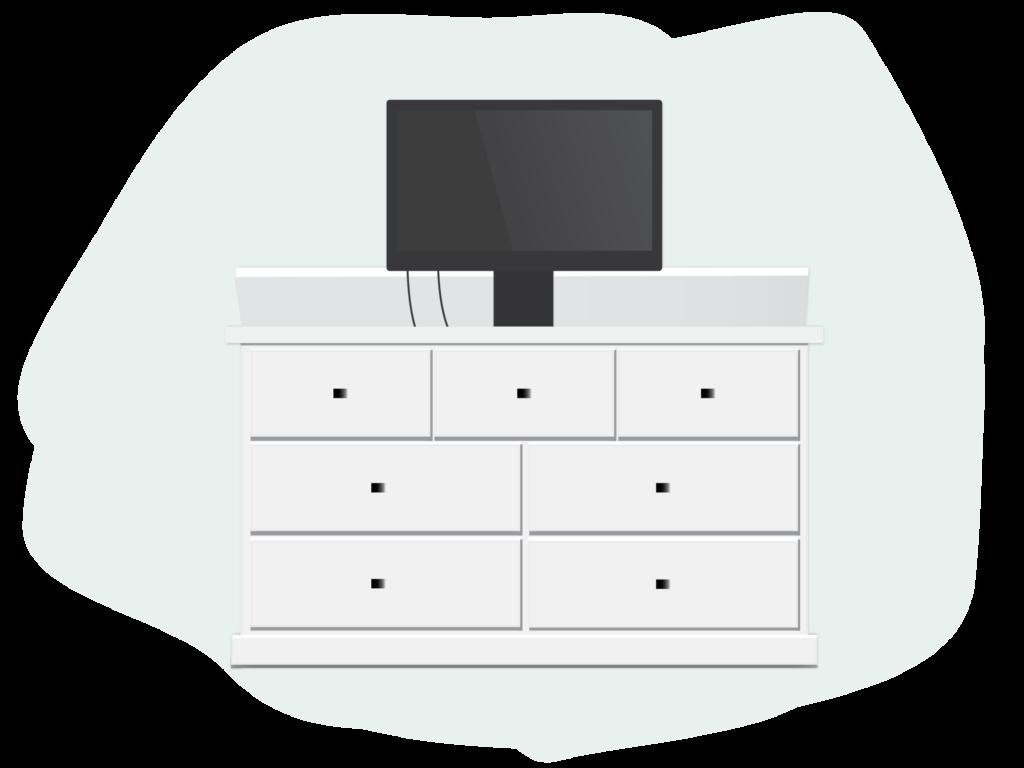 TV lift dresser
