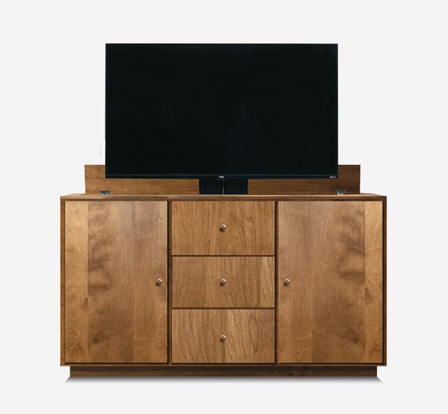 Brisbane Storage TV Lift Cabinet TV Open